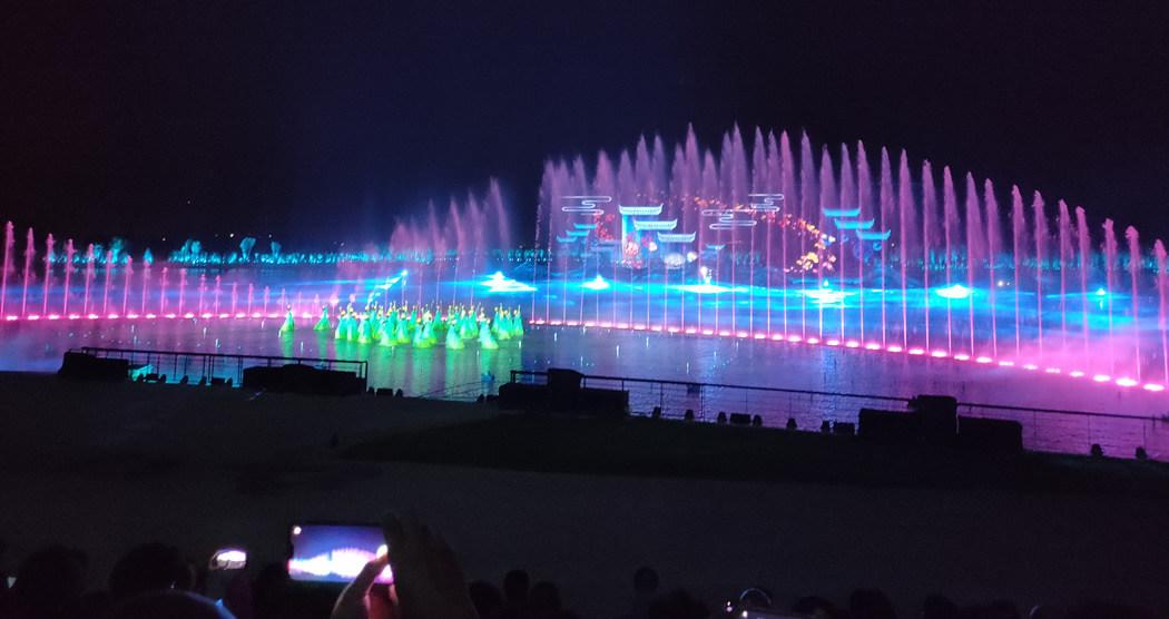 中润光电十大经典案例-山西晋阳湖水上实景演艺《如梦晋阳》