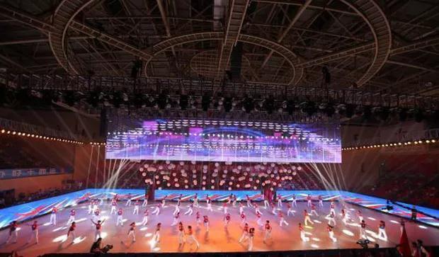 陕西全民运动会LED透明屏