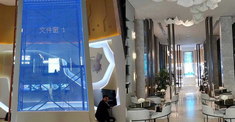 LED贴膜屏案例-惠州房地产项目案例