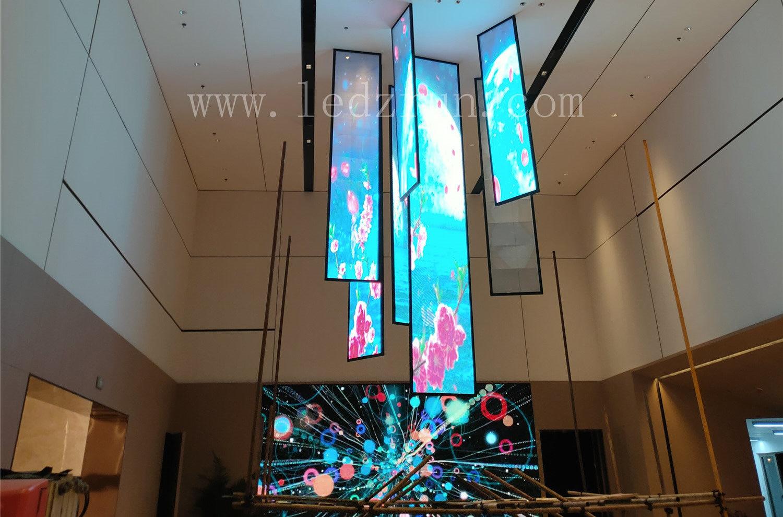 LED贴膜屏案例-新疆房地产项目