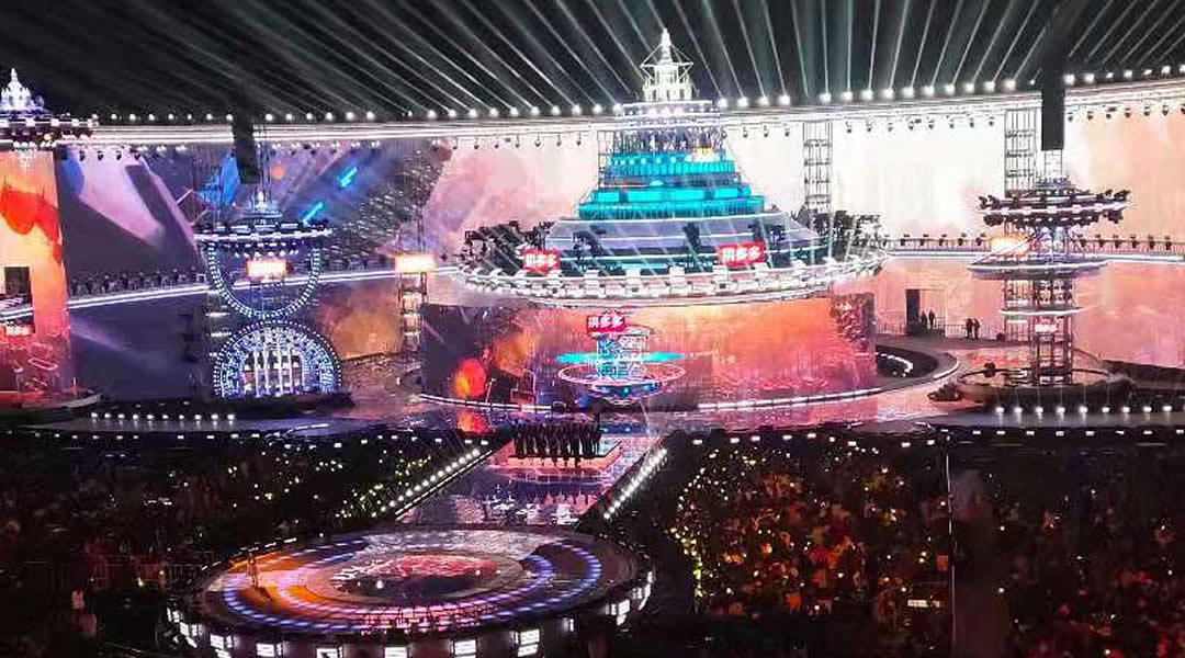 P55网格屏案例-湖南卫视跨年晚会