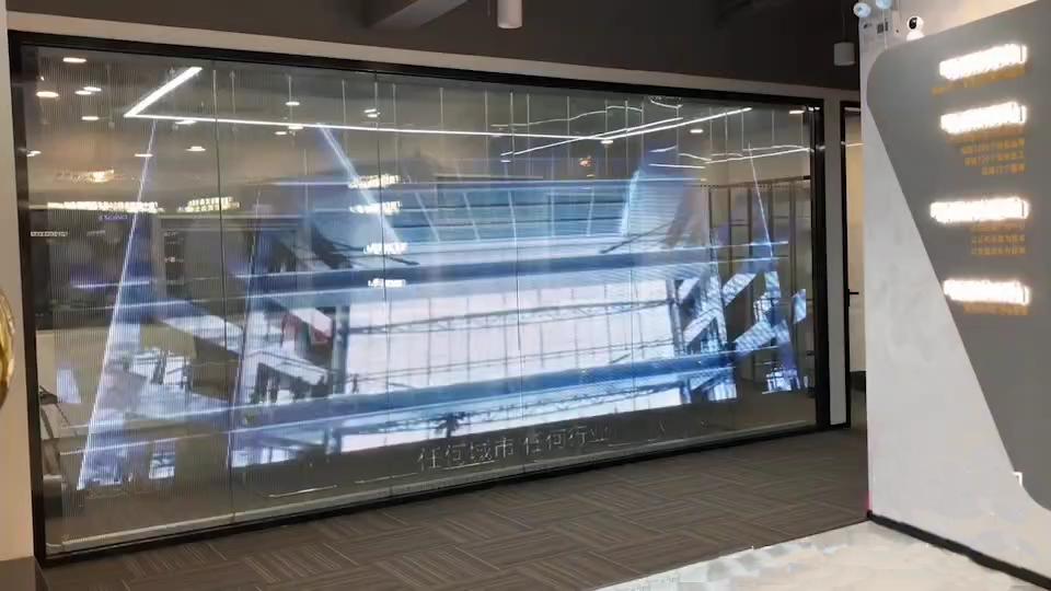 P5-10led贴膜屏案例-南山某共享办公室