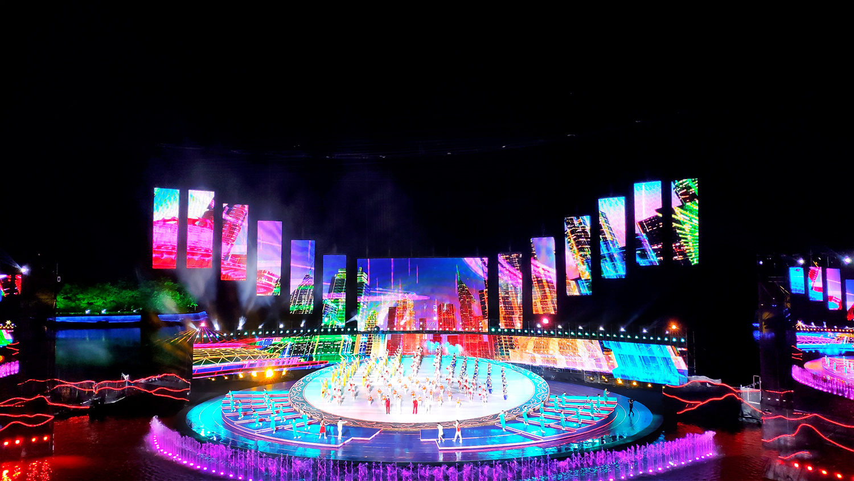 中润光电网格屏点亮第四届黑龙江省旅发大会,激发牡丹江振兴新动力